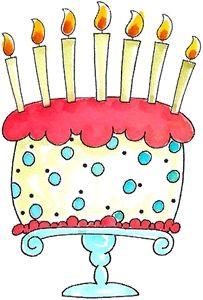 Whimsical cake clipart.