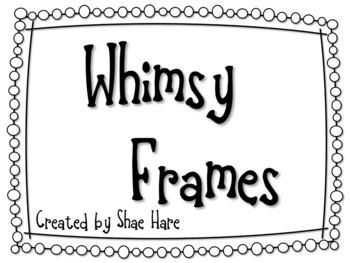 Whimsy Frames Clip Art.