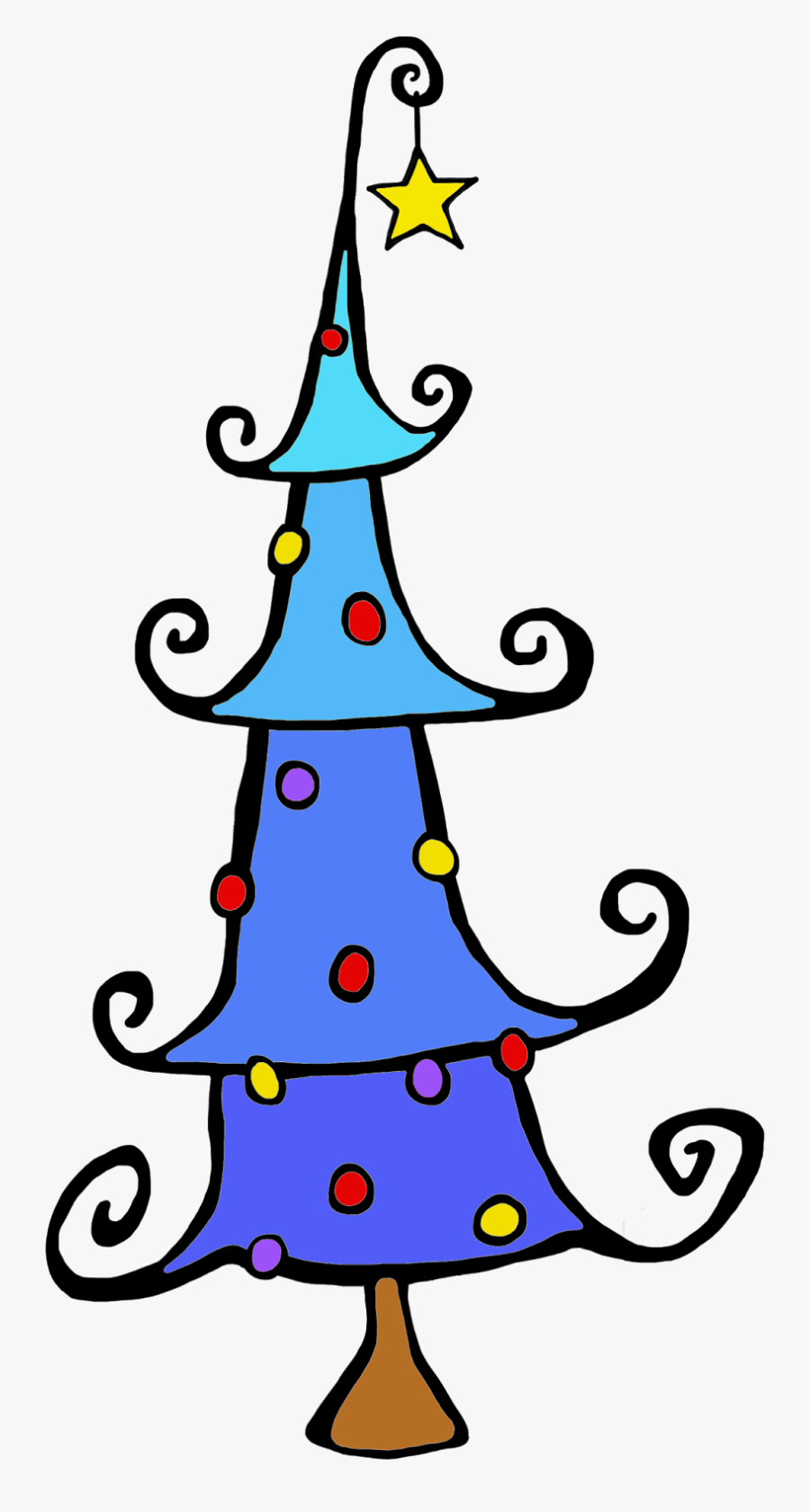 Christmas Tree Png Whimsical , Free Transparent Clipart.