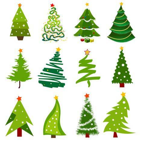 christmas tree vector images.