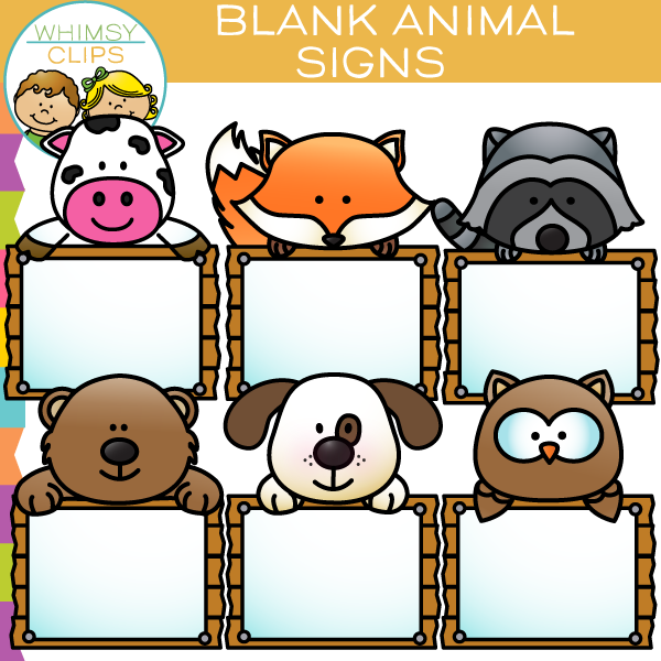 Blank Animal Signs Clip Art.
