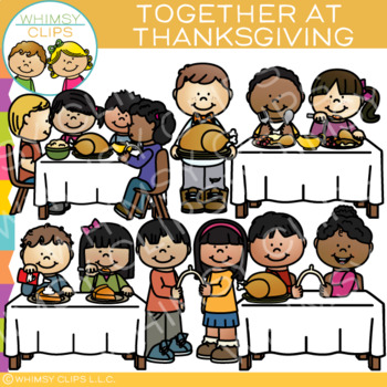 Together at Thanksgiving Clip Art.
