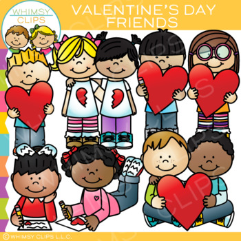 Friends and Valentines Clip Art.