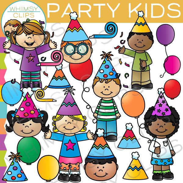 Party Kids Clip Art.