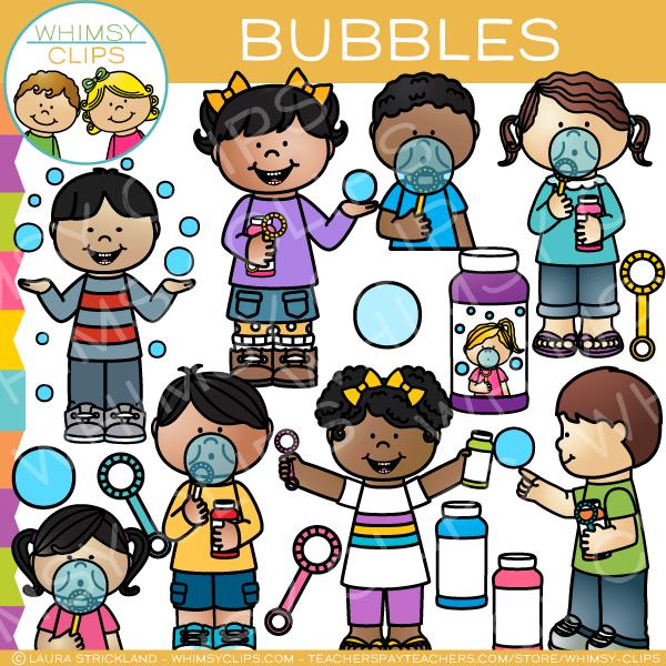 Kids Bubble Clip Art.