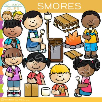 Smores Clip Art {Sequencing, Camping, and Snack Clip Art.