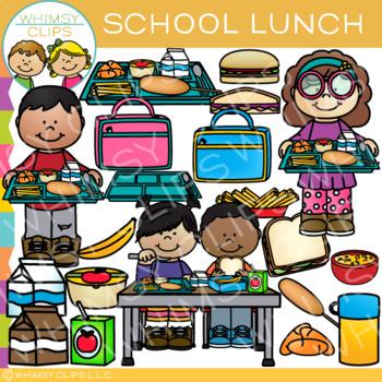 School Lunch Clip Art.