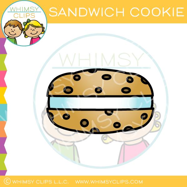 Sandwich Cookie Clip Art.