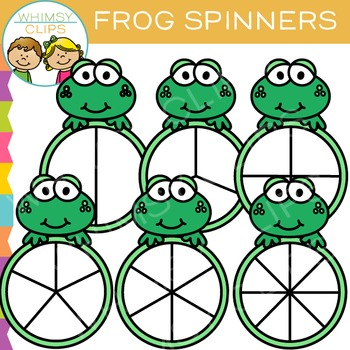 FREE Frog Spinners Clip Art by Whimsy Clips.
