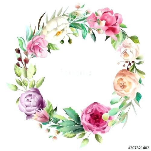whimsical flowers border vector.