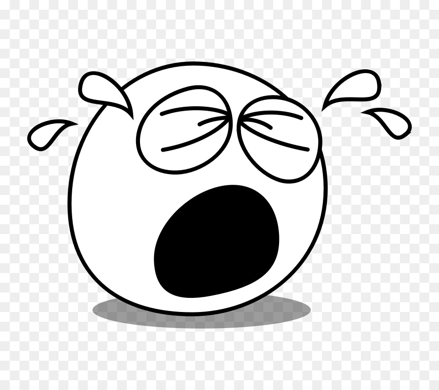 Emoji Black And White png download.