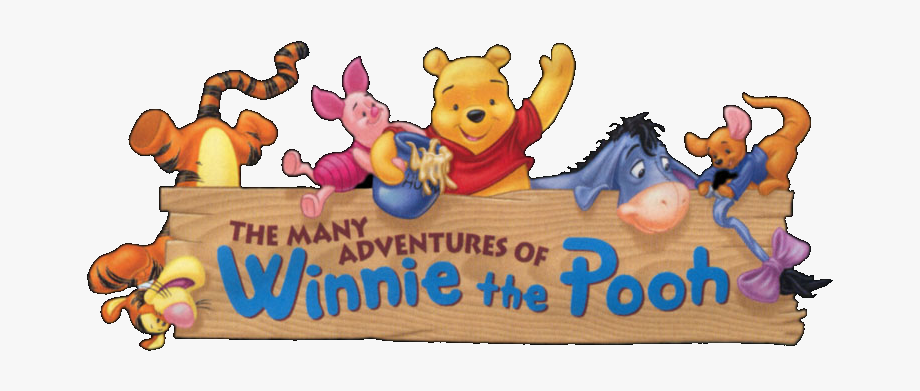 Many Adventures Of Winnie The Pooh Logo , Transparent.