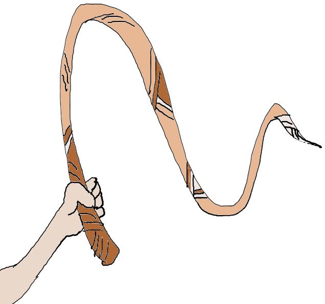 Cartoon whip