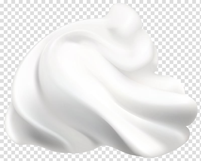Whip cream graphic illustration, Black and white Product.