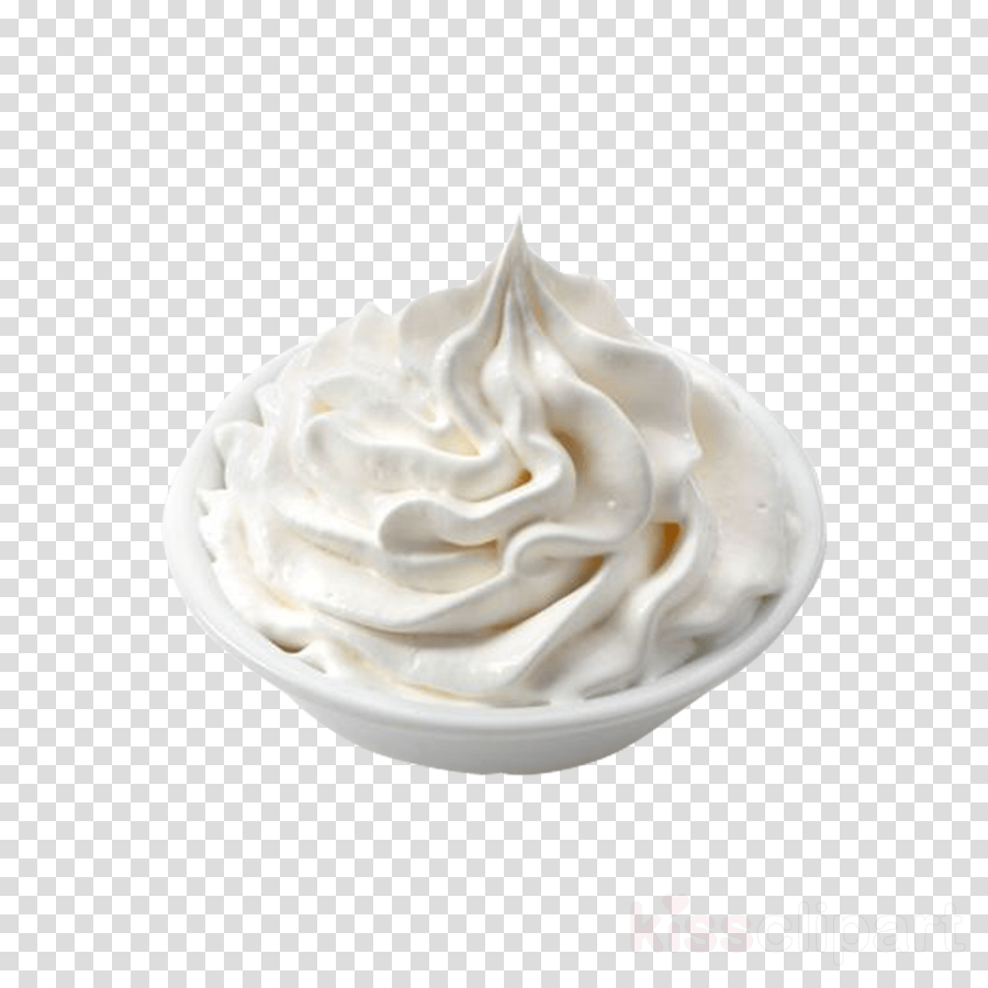 whipped cream white food cream meringue clipart.