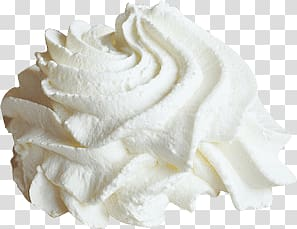 White cream, Whipped Cream transparent background PNG.