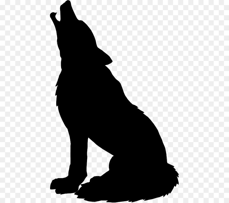Gray wolf Silhouette Drawing Clip art.