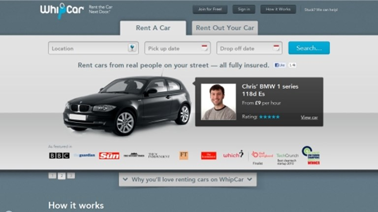 WhipCar wants you to love your neighbour and borrow their.