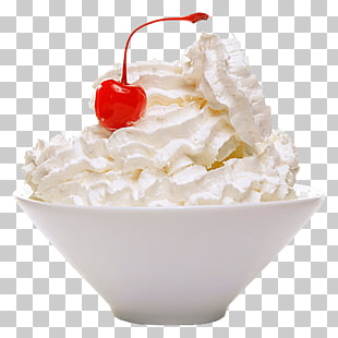 Ice cream Cream pie Whipped cream Milk, ice cream PNG.
