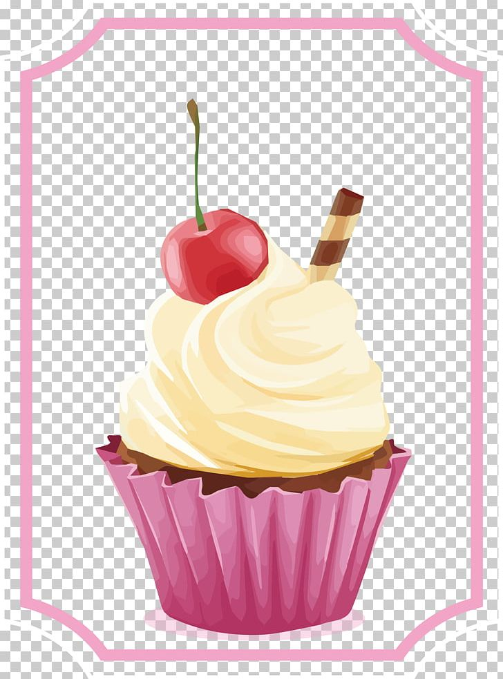 Cupcake Tart Cherry Cake Whipped Cream Cherry Pie PNG.