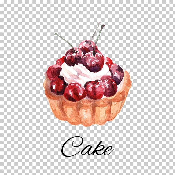 Cherry pie Whipped cream Frozen dessert Cranberry, cake PNG.