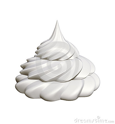 Whipped Cream Isolated Stock Illustration.