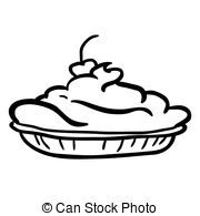 Pie With Whipped Cream Clipart.
