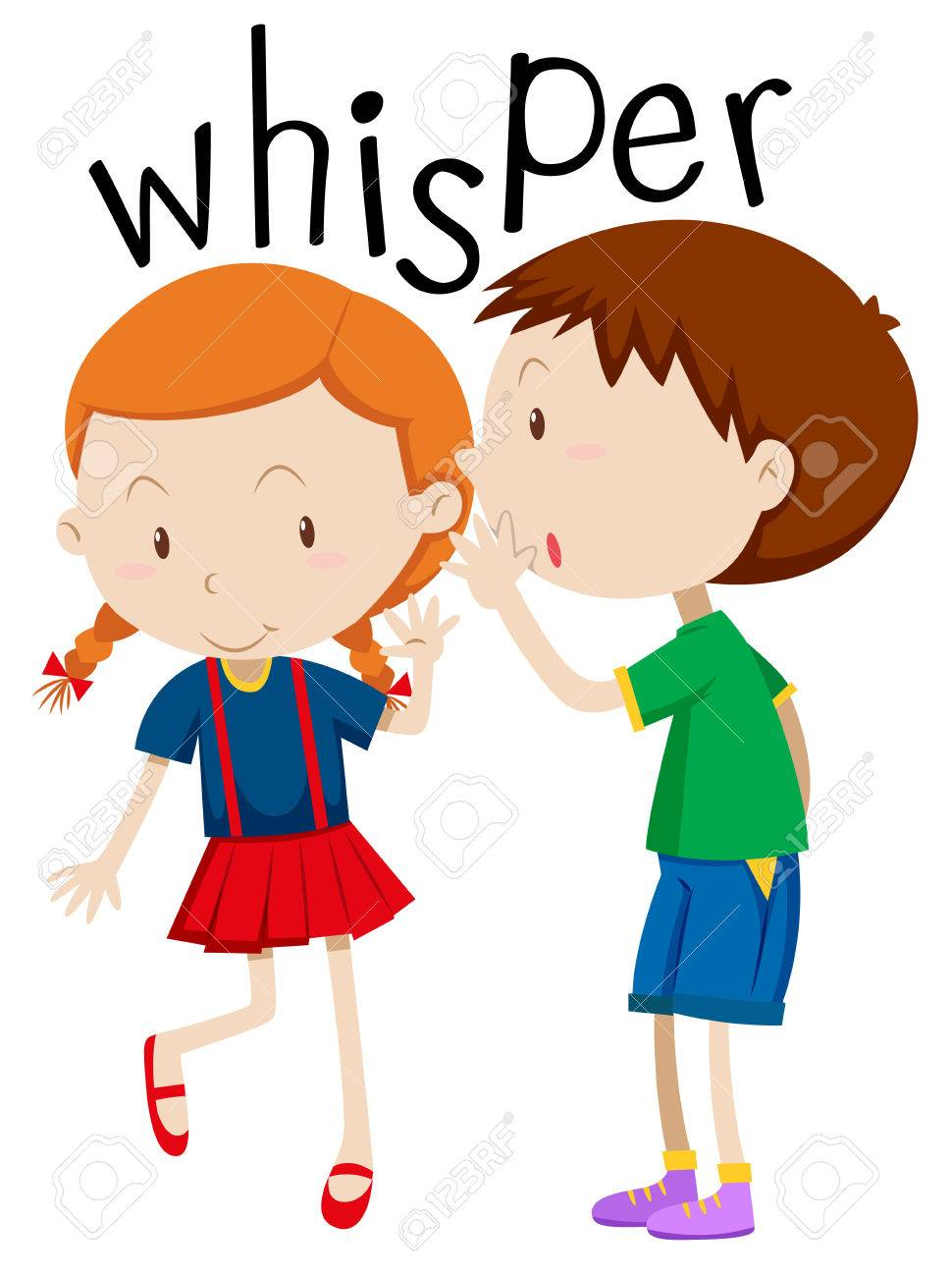 Whisper Phone Clipart.