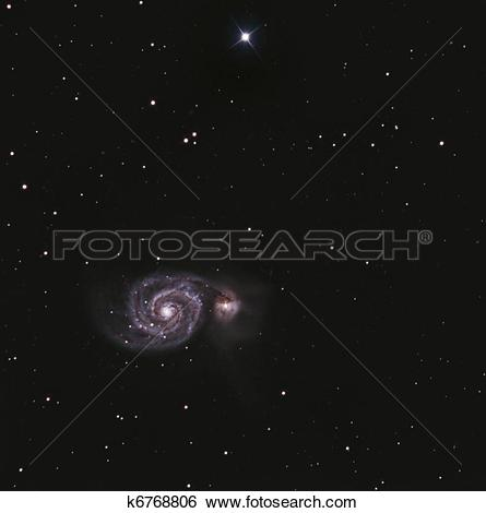 Stock Images of The Whirlpool Galaxy k6768806.
