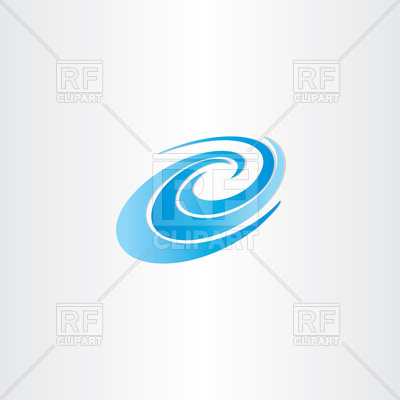 Blue water whirlpool icon Vector Image #102508.