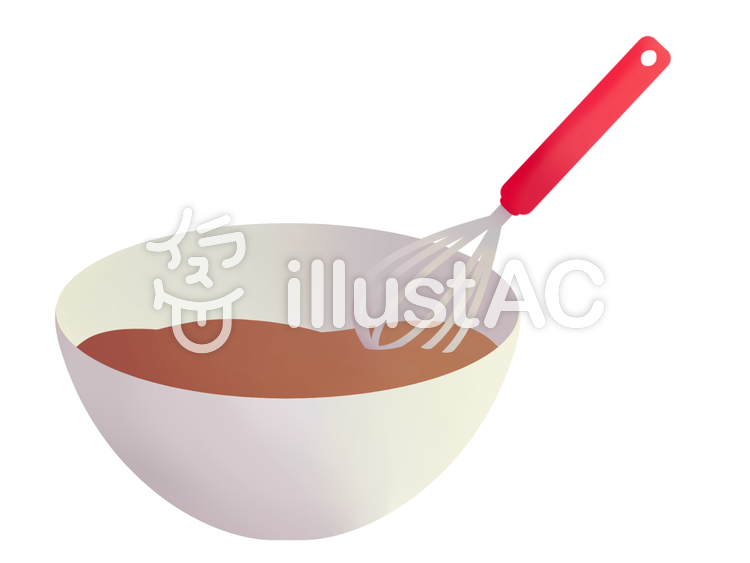 Whisk and bowl (chocolate).