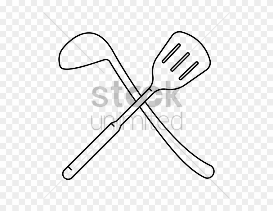 Whisk and spoon crossing.