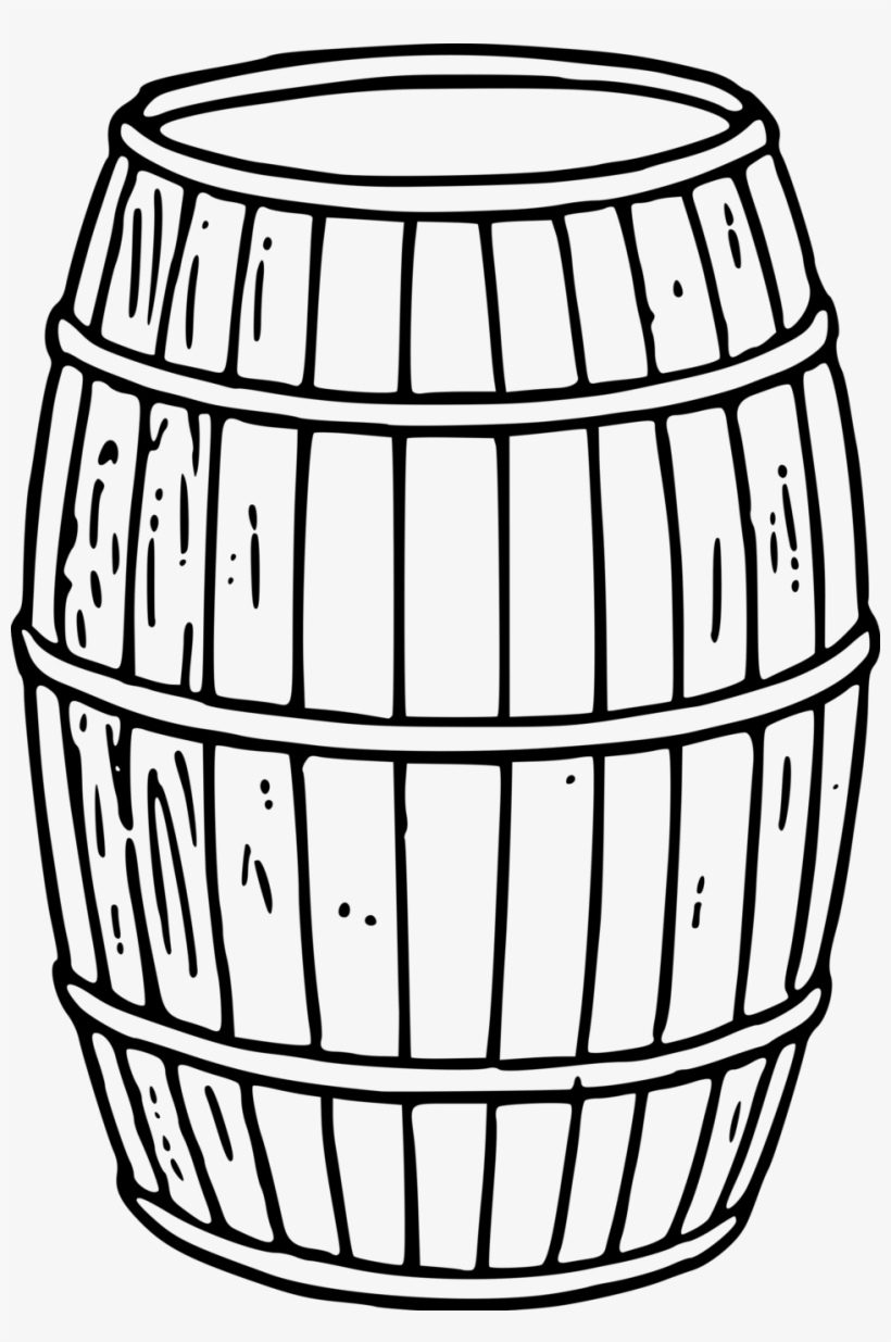 Keg Clipart Black And White.