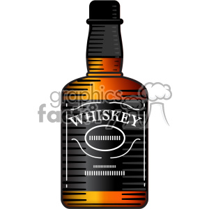vector whiskey bottle image clipart. Royalty.