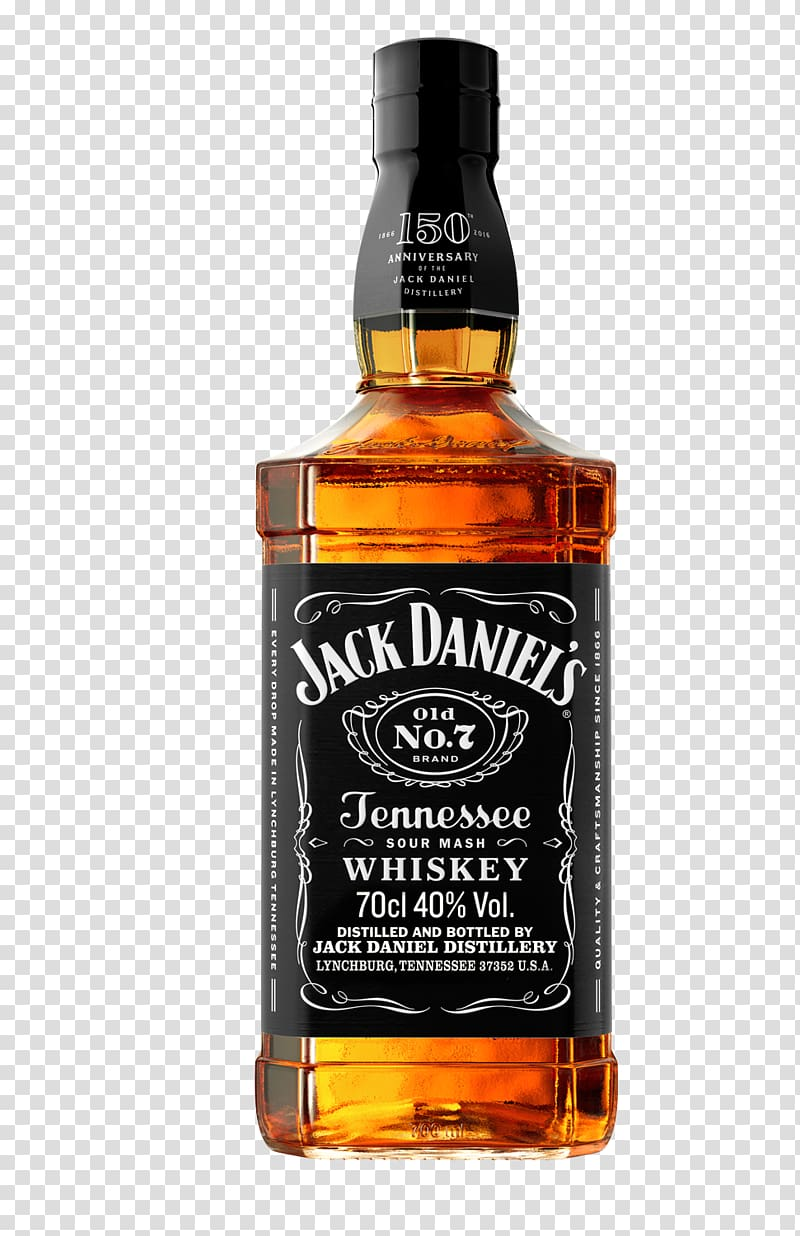 Jack Daniel\'s Tennessee Whiskey bottle, Bourbon whiskey.