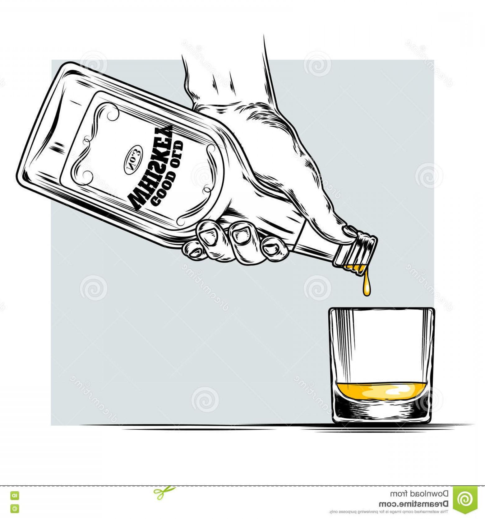 Stock Illustration Vector Illustration Whiskey Glass Being.