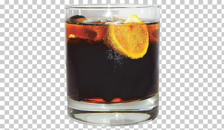 Negroni Cocktail garnish Whiskey Cola Rum and Coke, cocktail.