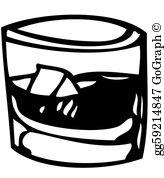 Whisky Glass Clip Art.