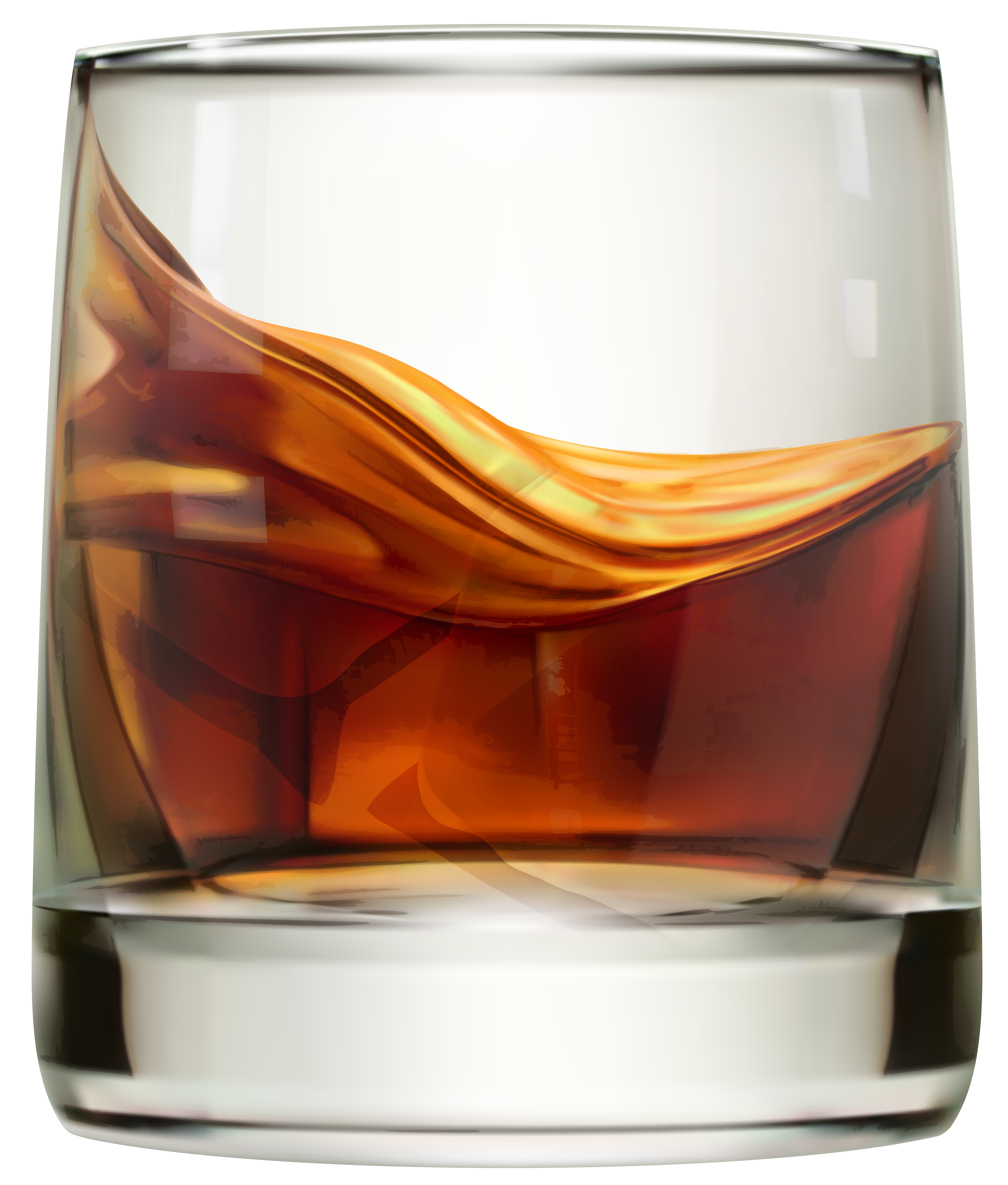 Whiskey Glass PNG Clip Art Image.
