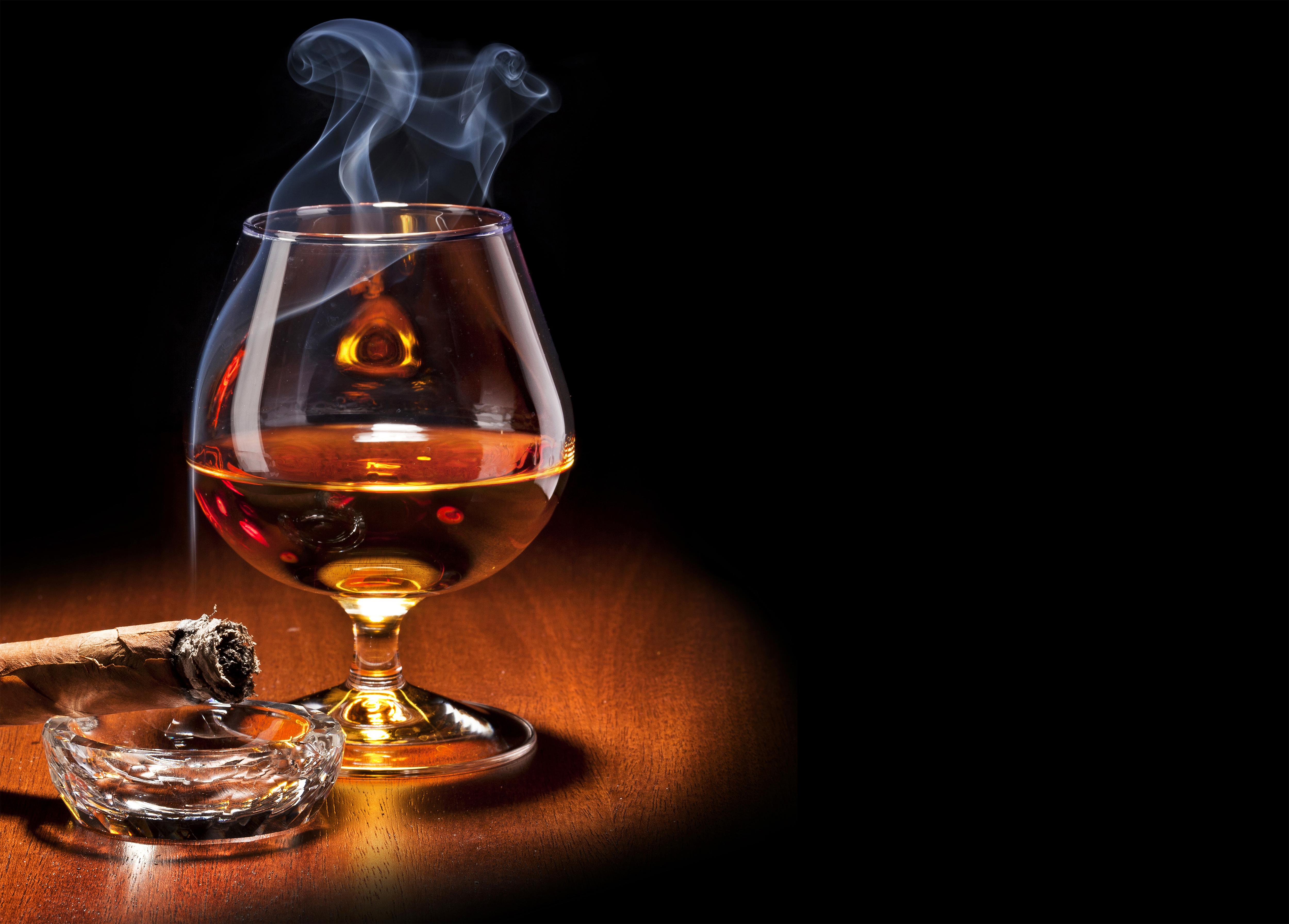 Cigar and Whiskey Wallpaper.