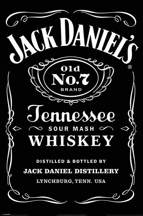 Pyramid International Jack Daniels No 7 Label Tennessee Whiskey Logo Poster  36x24 inch.