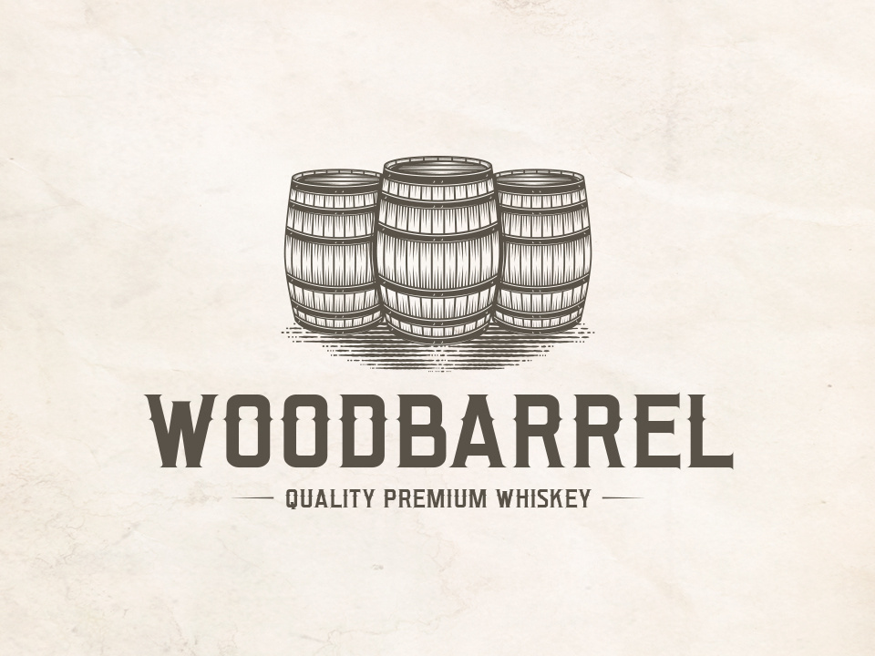 Barrel Whiskey Logo Template by Alberto Bernabe on Dribbble.