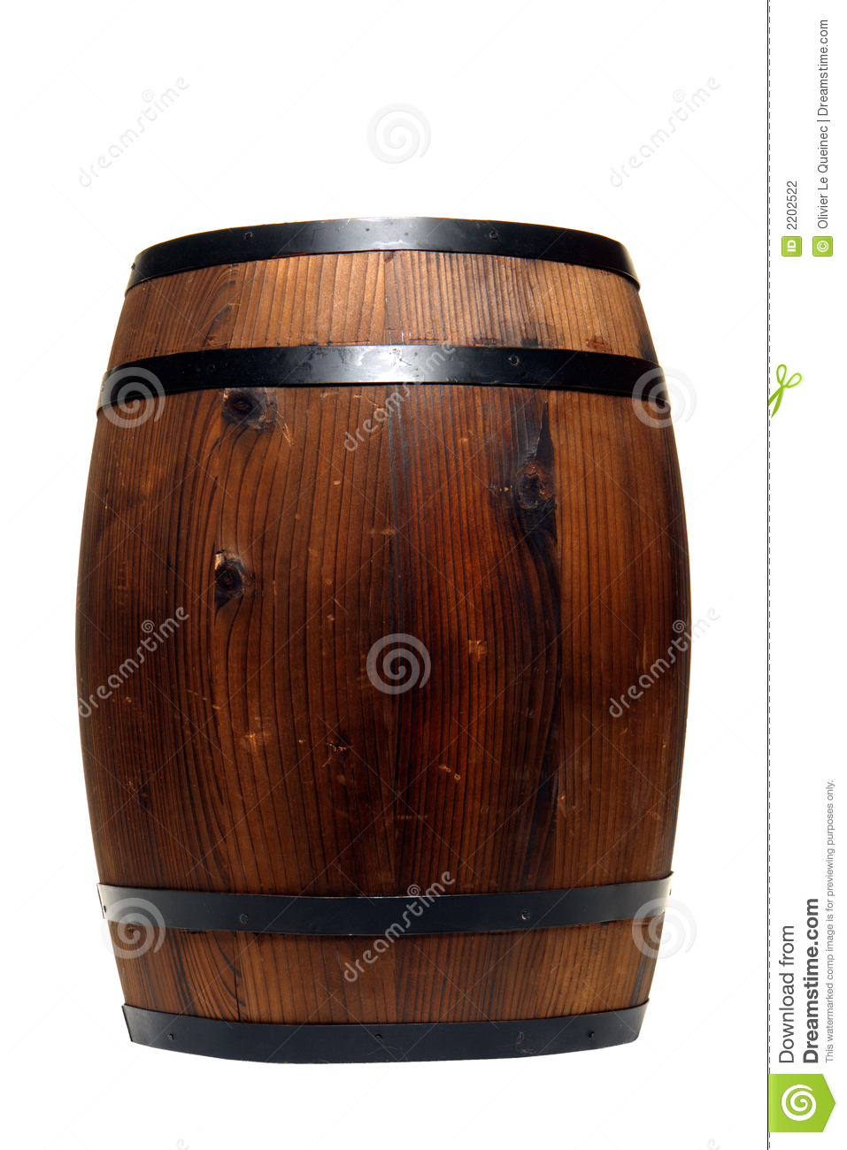 Old Whisky Barrel Or Wine Cask Wood Container Stock Photography.