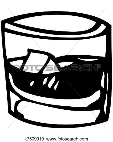 Clipart of a glass of whisky k7509003.