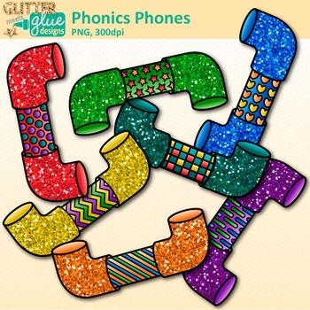Phonics Phones Clip Art: Phonemic Awareness Graphics {Glitter Meets Glue}.