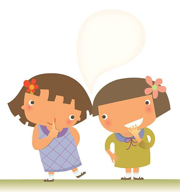 Kids whispering clipart 2 » Clipart Portal.