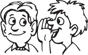 Whispering clipart black and white 5 » Clipart Station.