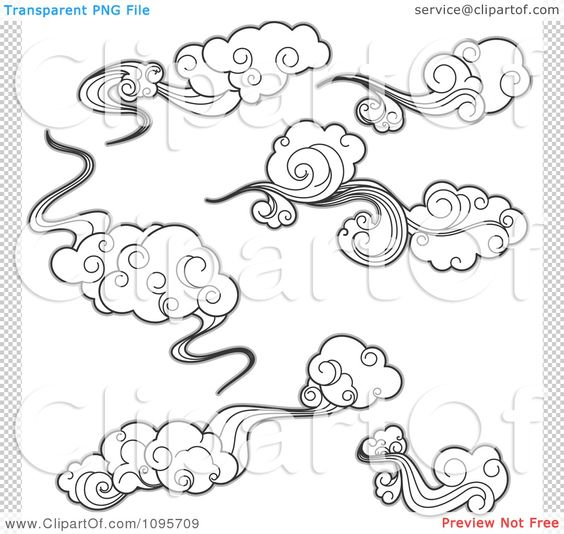 drawings of clouds.
