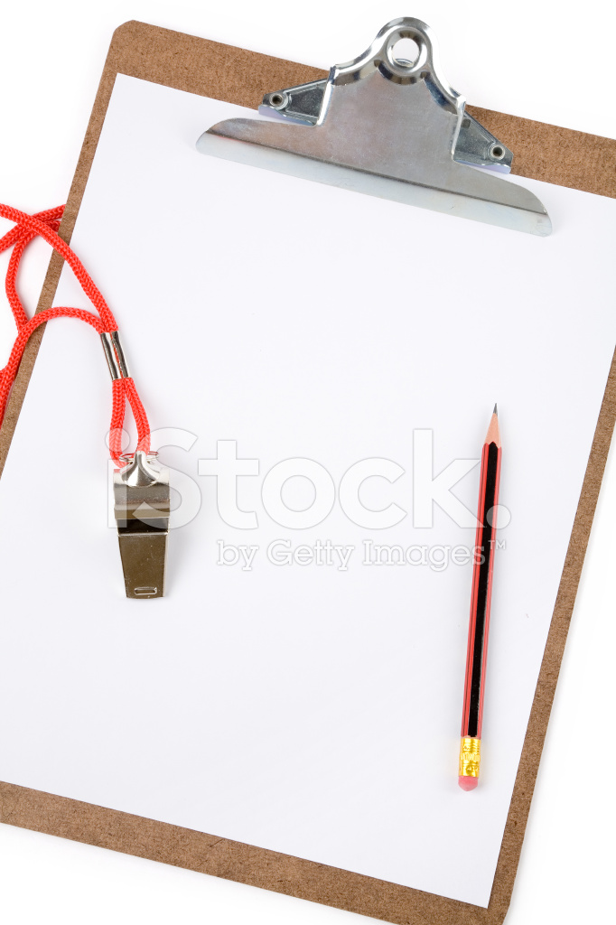 Clipboard and Whistle Stock Photos.