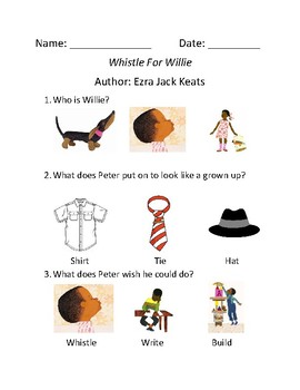 Whistle for Willie Comprehension Assessment.